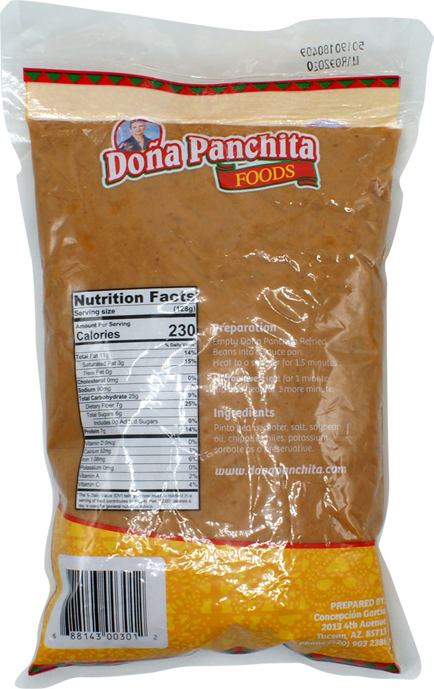 Sides Dona Panchita Refritos Con Chipotle Durvill Foods Flavor Is Our Specialty